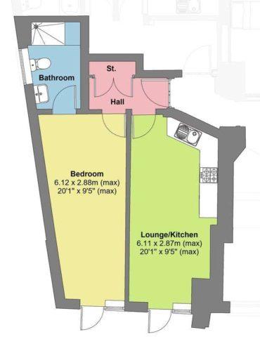 Image of 1 Bedroom Flat for sale in Saltash, PL12 at Culver Road, Saltash, PL12