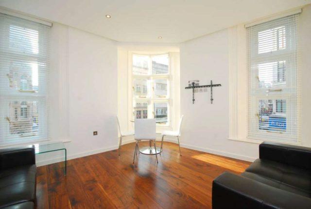 Image of 1 Bedroom Flat to rent at Berners Street Fitzrovia London, W1T 3LA