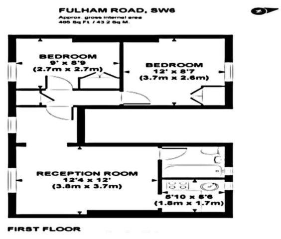Fulham Road Fulham 2 Bedroom Flat To Rent SW6