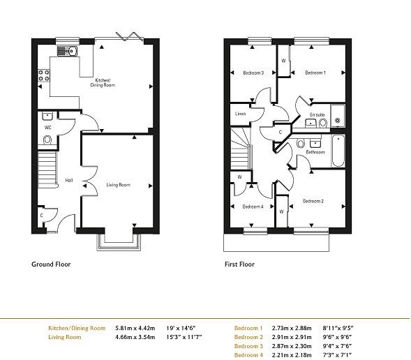 Marringdean road billingshurst 4 bedroom semi detached for for Billings plan room