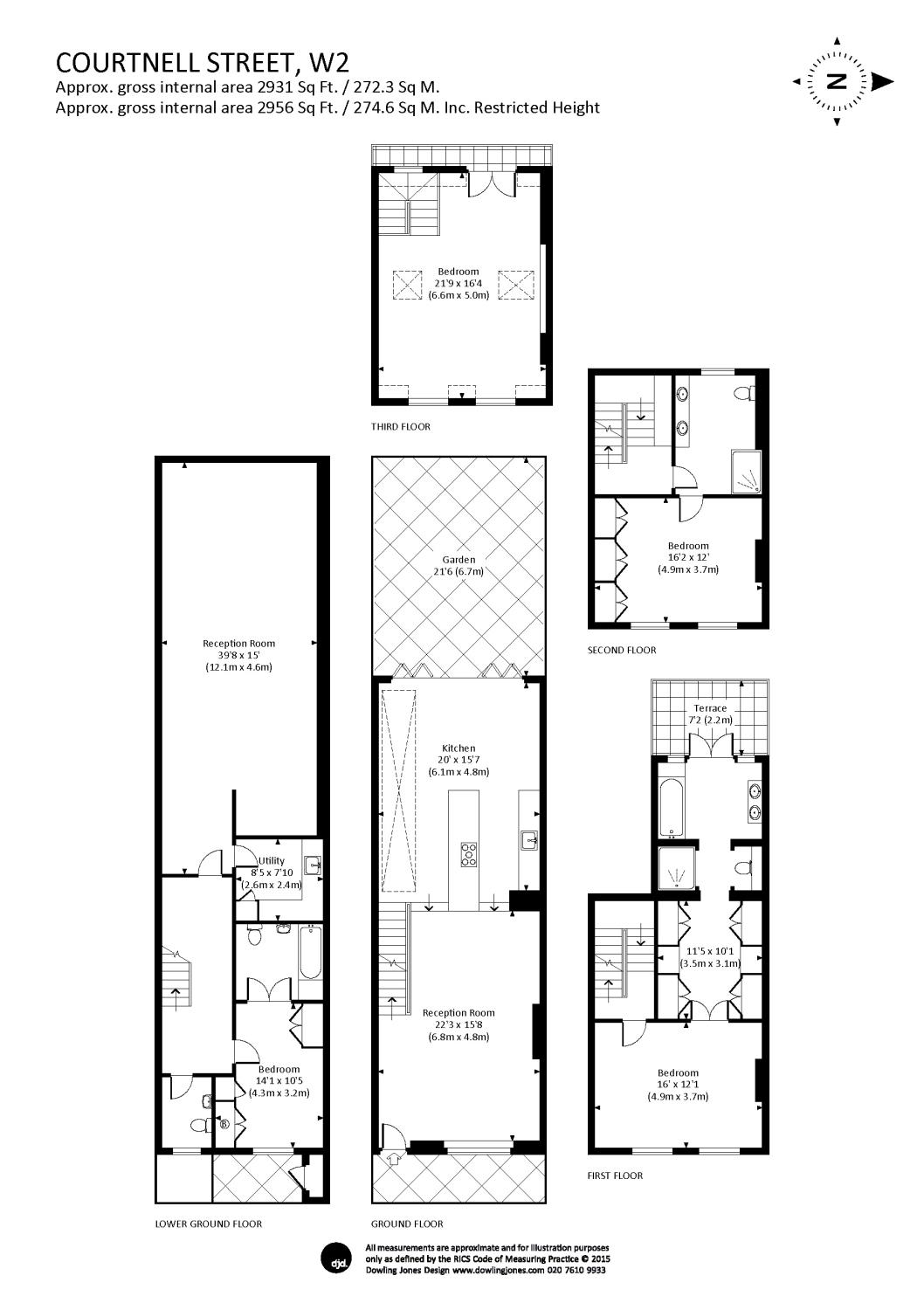4 bedroom terraced for sale on courtnell street london w2 5bu for Rembrandt homes floor plans