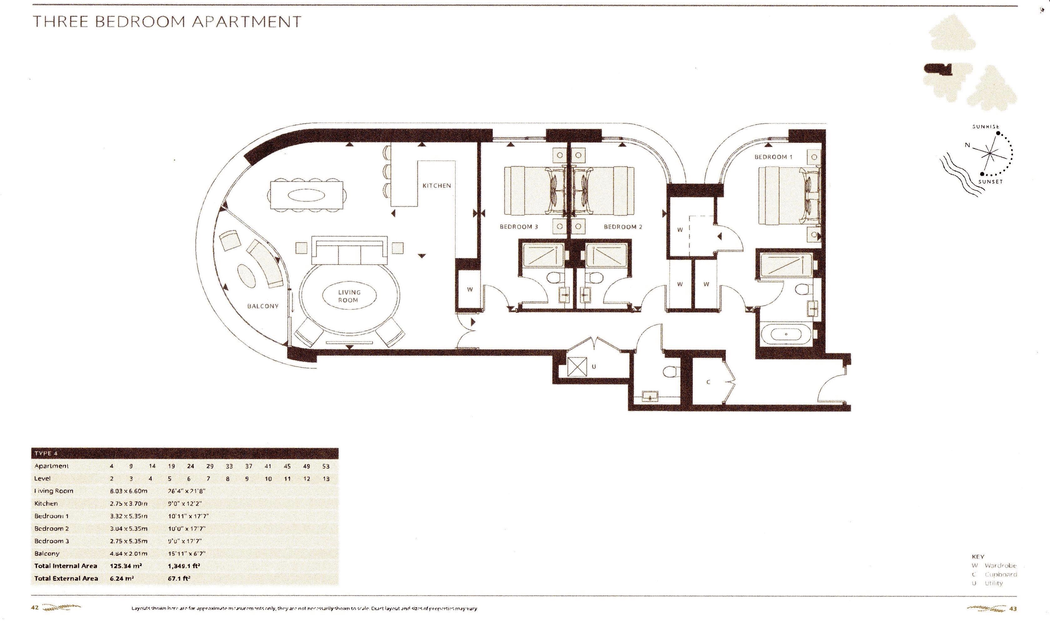 3 Bedroom Flat For Sale On Albert Embankment The Corniche